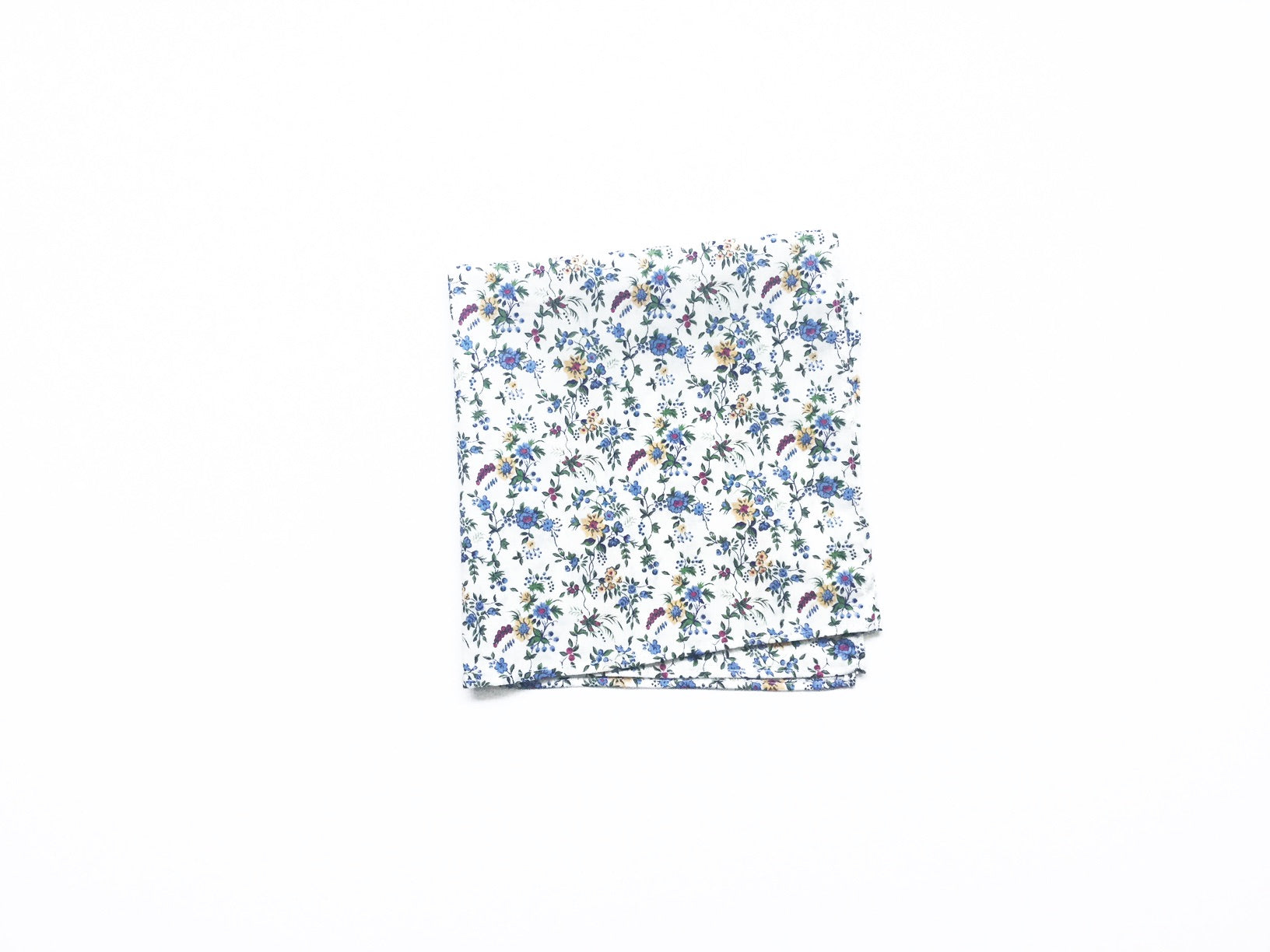 POCKET SQUARE, blue-white liberty cotton