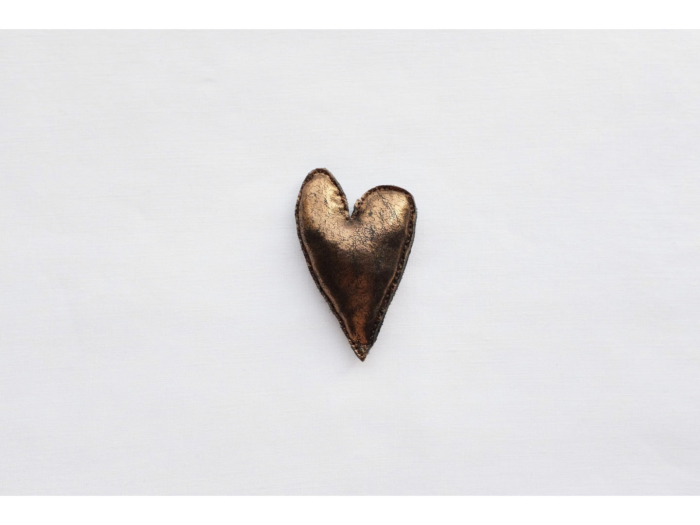 HEART in black copper, medium