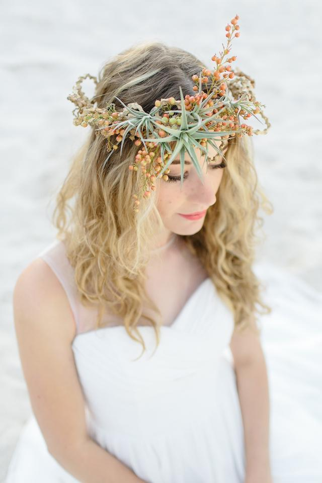 Air Plant Weddings: Air Plant Hair Accents