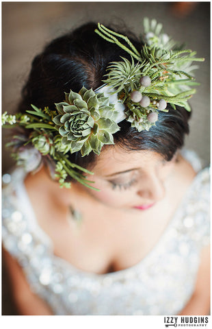air plant hair crown