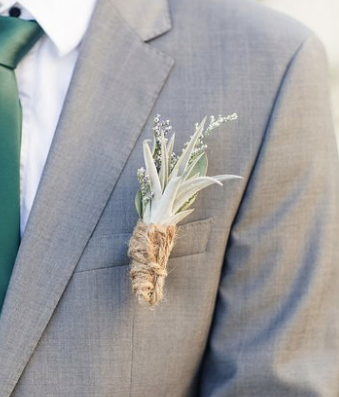 Beach styled air plant boutonniere