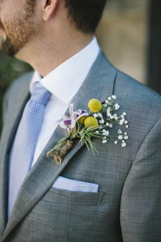 air plant boutonniere
