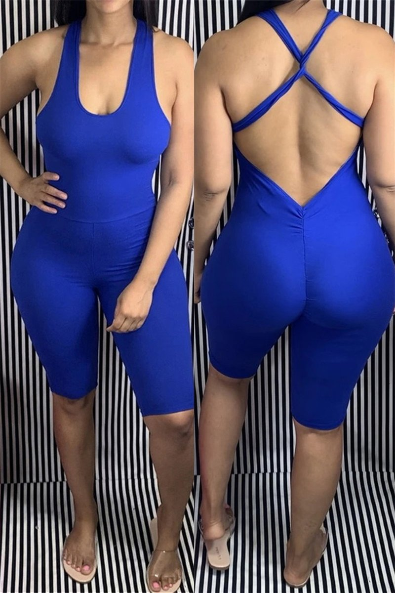 Back Bandage Bodycon Romper