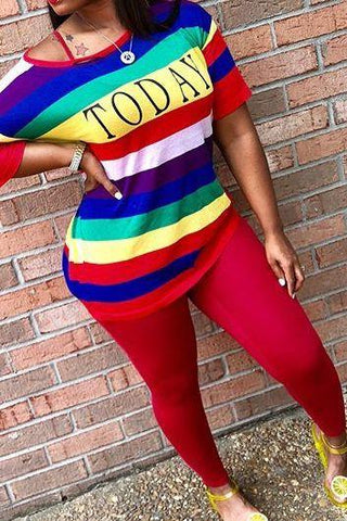 Rainbow Top with Legging Sets