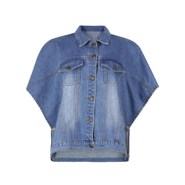 Plus Size Denim Jacket With Pockets