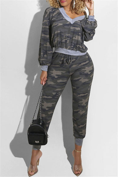 Camo Printed Womens Clothing
