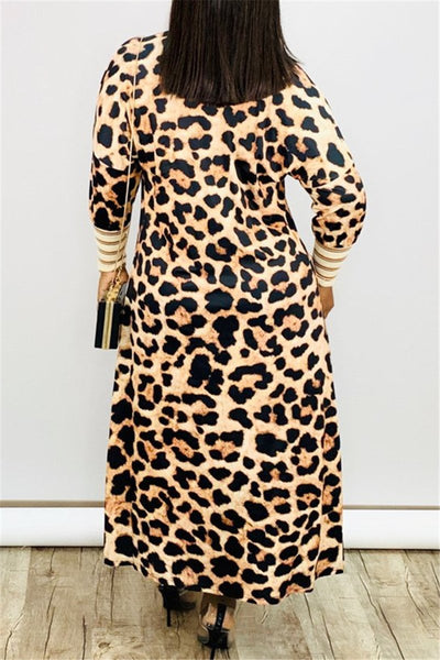 Leopard Printed Cardigan Thin Coat