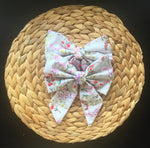 White Floral Lottie Bow