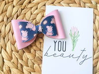 Pink Peppa Pig Bow