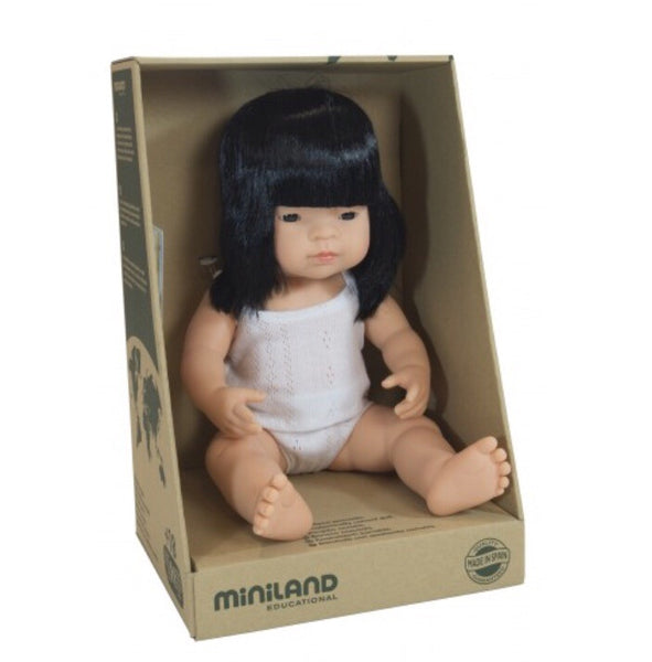 Miniland Doll - 38cm Asian Girl