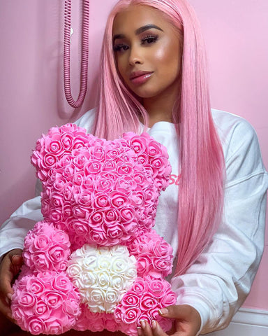 Dreamdoll with Pink Love Heart Rose Bear