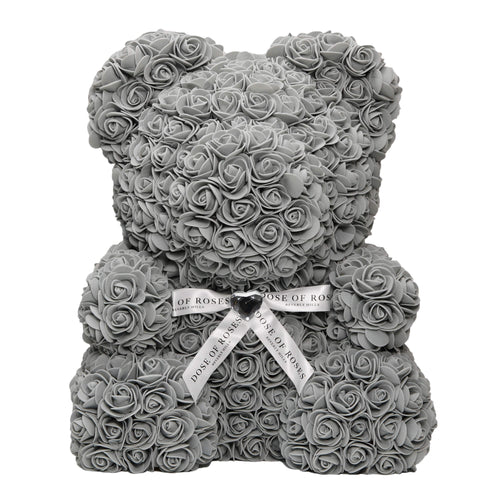 Dose of Roses - Gray Rose Bear -