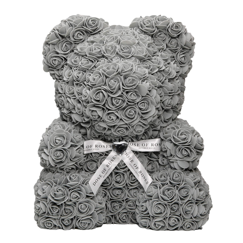 Dose of Roses - Gray Rose Teddy Bear -