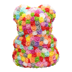 Rainbow Rose Bear Back