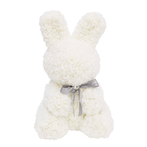 Dose of Roses - White Rose Bunny -