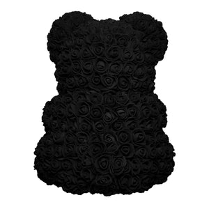 Medium Black Rose Bear Back