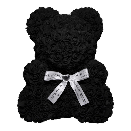 Dose of Roses - Black Rose Bear -