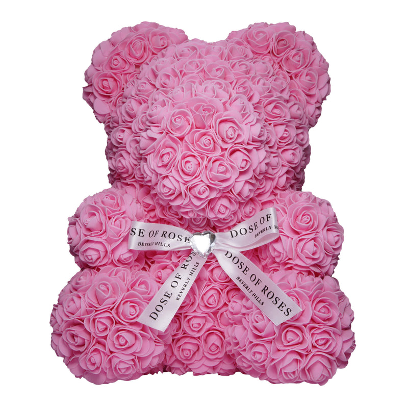 Dose of Roses - Pink Rose Teddy Bear -