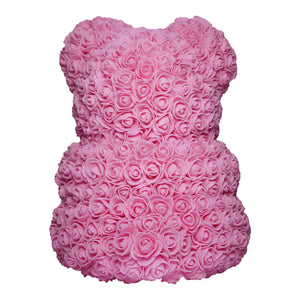 Medium Pink Rose Bear Back