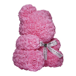 Medium Pink Rose Bear Side