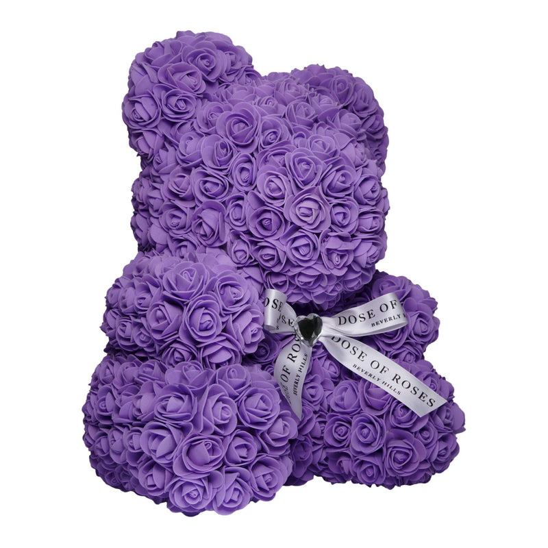 Dose of Roses - Purple Rose Teddy Bear -