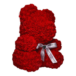 Red Rose Bear Side