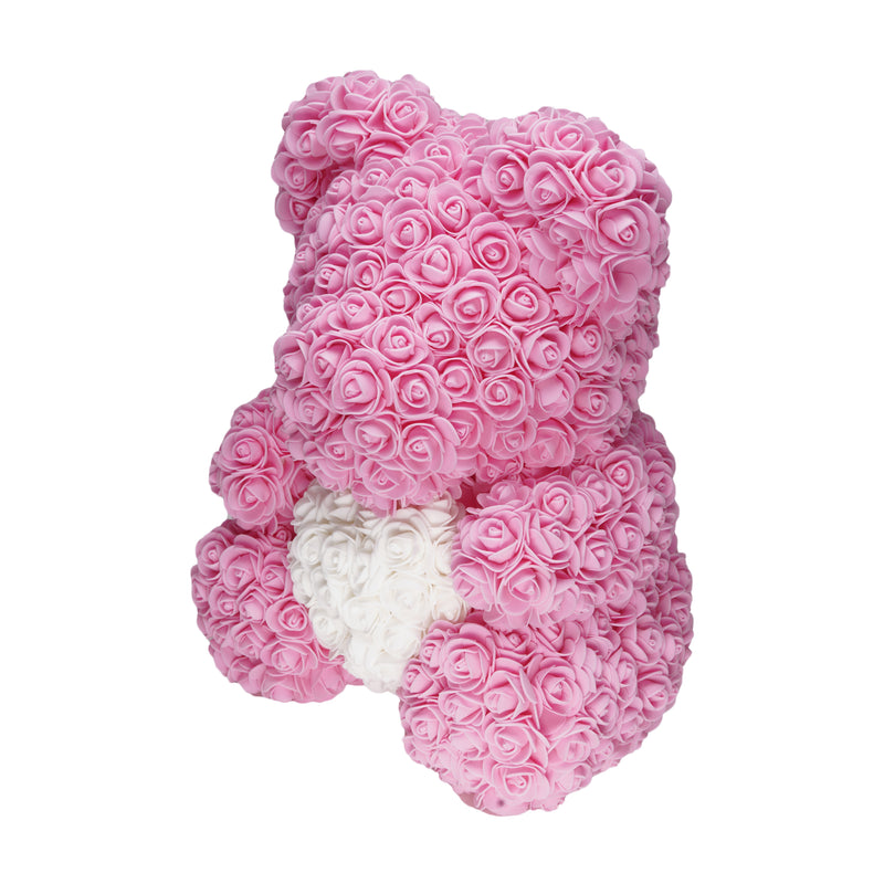 Dose of Roses - Pink Love Heart Rose Teddy Bear -