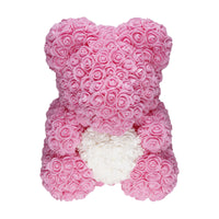 Pink Love Heart Rose Bear