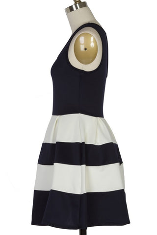 Scuba Stripe Dress