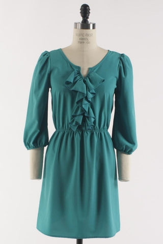 Ruffle Up Dress - Jade