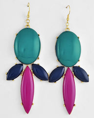 Crew Drop Earring - Teal