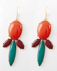 Crew Drop Earring - Orange