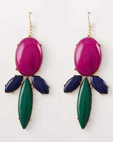 Crew Drop Earring - Fuchsia