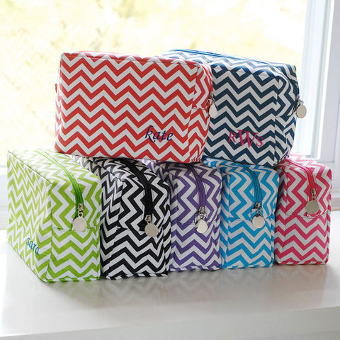 Monogram Chevron Spa Bag