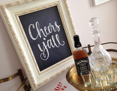 Cheers Y'all Print Poster