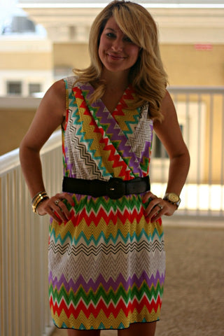 Zig Zag Girl Dress