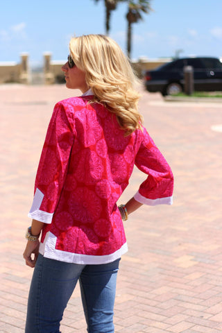 Tory Tunic in Red