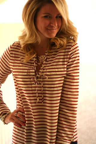 Stripe Tunic - Ivory