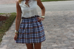 Madras Kyle Skirt in Plaid