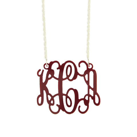 Interlocking Monogram Necklace - Small