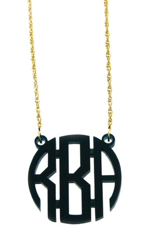 Circle Monogram Necklace - Small