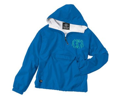 Monogrammed Anorak Rain Jacket - Royal Blue