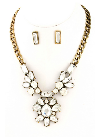Mega Drop Cluster Necklace