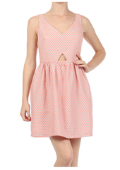 Dot Cut Away Dress