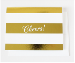 Gold Cheers Note Cards