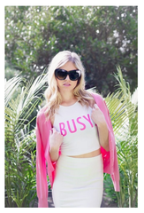 Busy Crop Top - White
