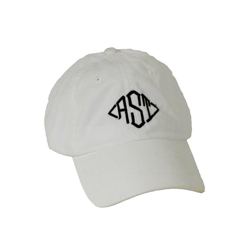 Monogram White Ball Cap