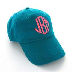 Monogram Teal Ball Cap