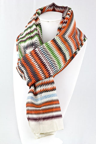 ZigZag Scarf in Orange