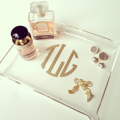 Acrylic Monogram Small Tray